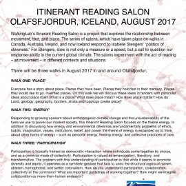 Itinerant Reading Salon with WalkingLab in Iceland