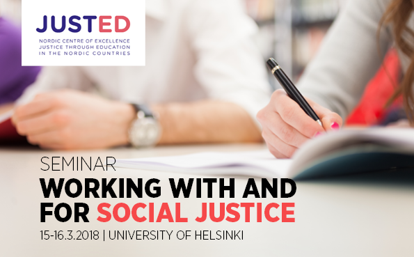 Keynote at Working With and for Social Justice series at University of Helsinki