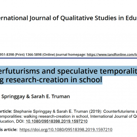 Article: Counterfuturisms and speculative temporalities